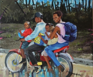 """Motoconcho"" - Julio Reyes - pintura acrílica tela 45x37 - 2017 • <a style=""font-size:0.8em;"" href=""http://www.flickr.com/photos/137394602@N06/32658739446/"" target=""_blank"">View on Flickr</a>"