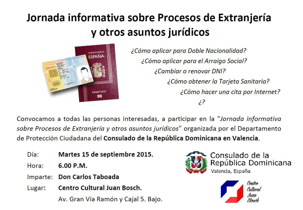 Jornada informativa sobre Procesos de Extranjería y otros asuntos jurídicos
