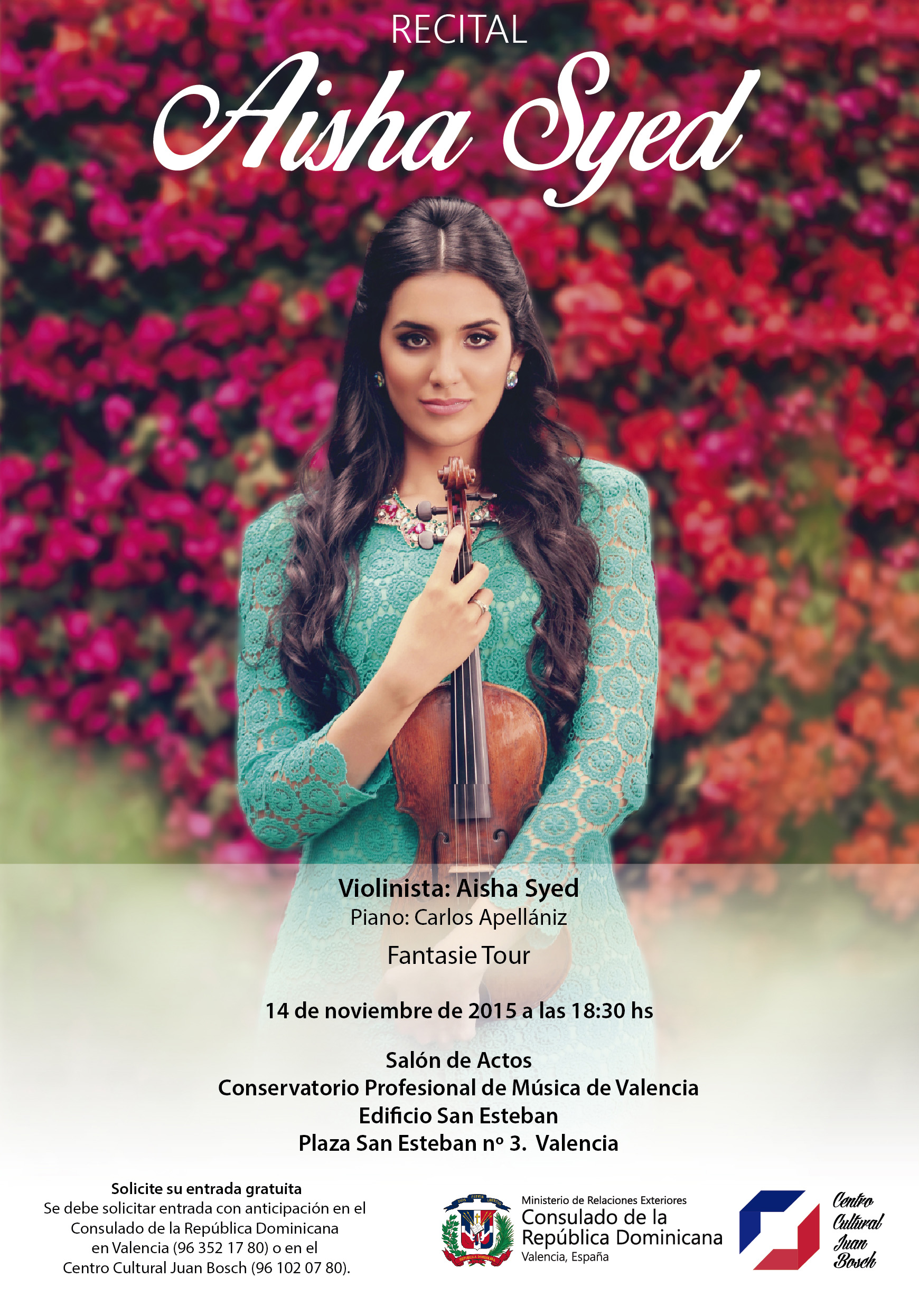 Cartel de concierto de Aisha Seyd - copia