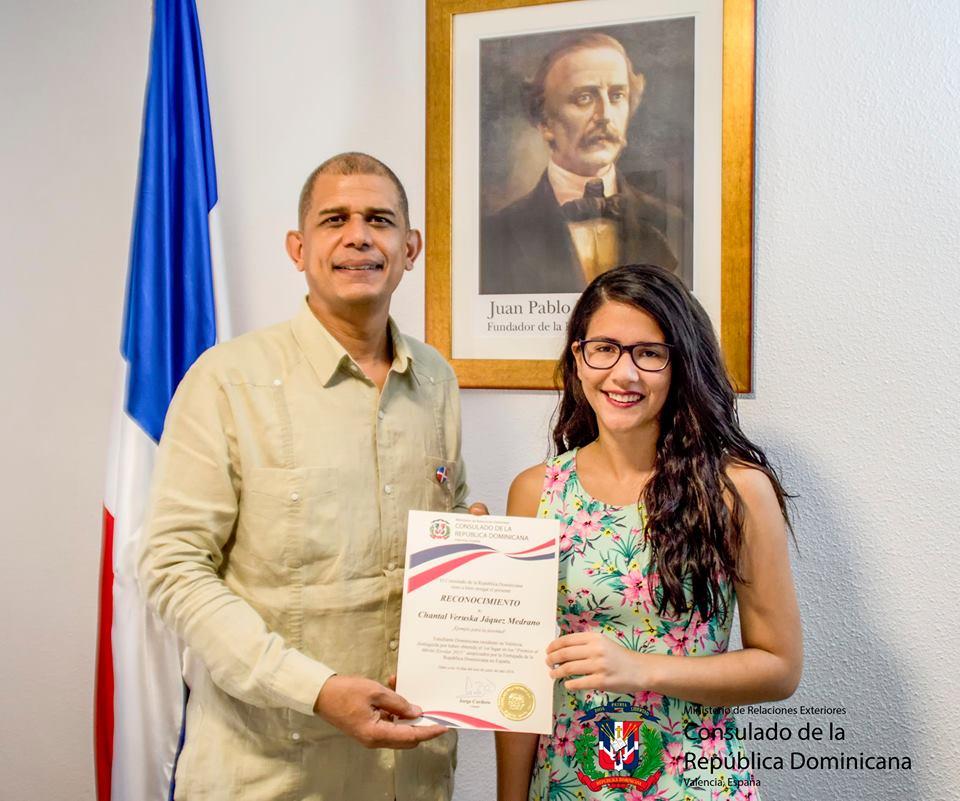 Premiada 1er lugar en los Premios al Mérito Escolar