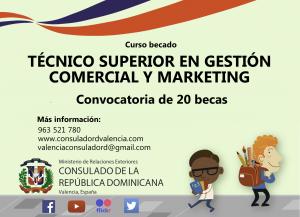 Técnico Superior en Gestión Comercial y Marketing curso becado