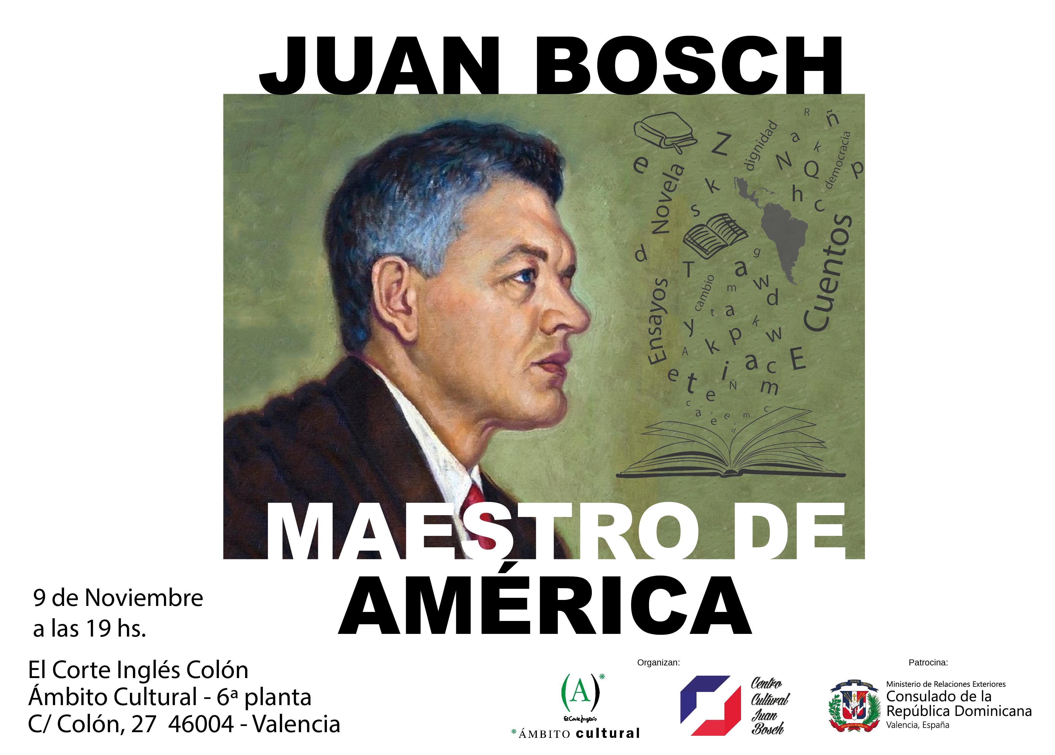 Juan Bosch Maestro de America - banner Ambito Cultural El Corte