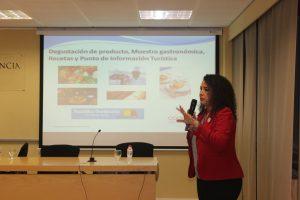 Maylen Susaña en la presentación de Cooprodom, la Cooperativa internacional de Productos Dominicanos, proyecto en marcha.