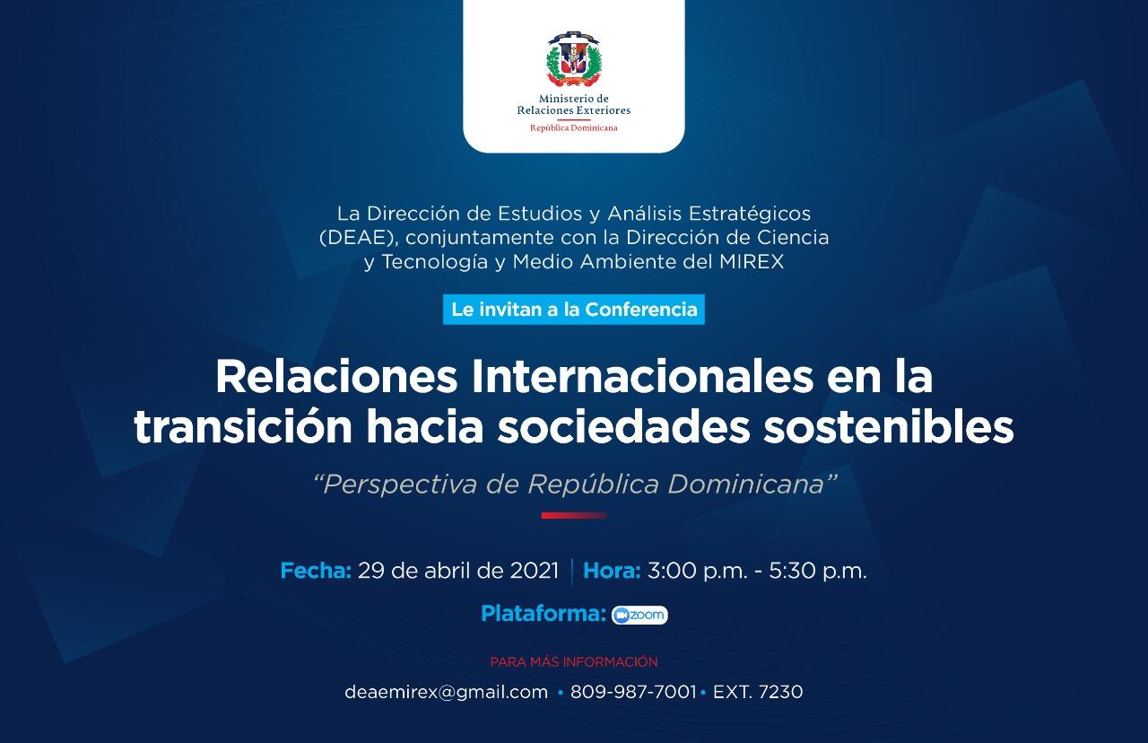 """Conferencia """"Relaciones Internacionales en la transición hacia sociedades sostenibles"""""""