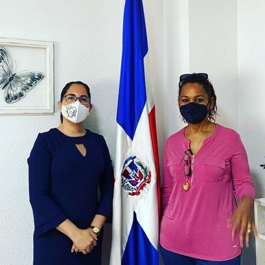 Visita de Carmen Julia Valdera, presidenta de asociación ARAD